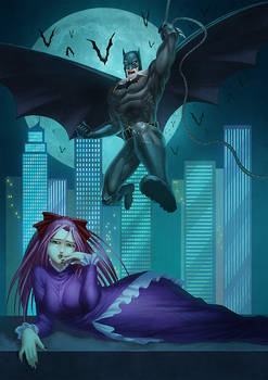 COMMISSION : BATMAN AND AKASHA