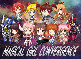 COMMISSION : Magical Girl Convergence by papillonstudio