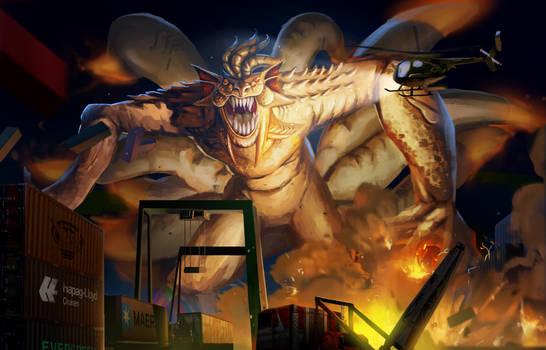 Ninetales realistic badass kaiju