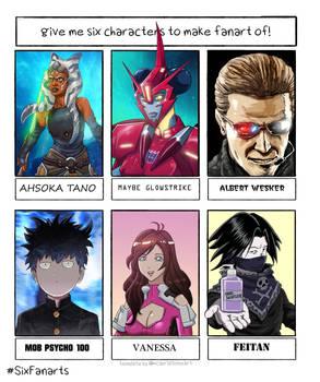 Six Fanart Characters #1