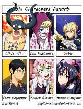 Six Fanart Characters #3