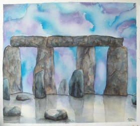 Stonehenge 2010 Watercolour by jebus139