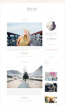 Free feminine blogger template