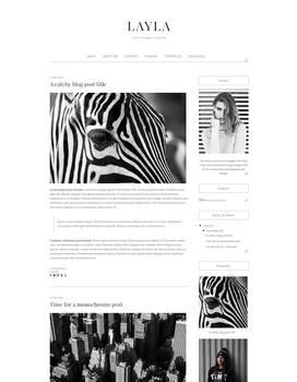 Free Minimalistic Blogger Template Design