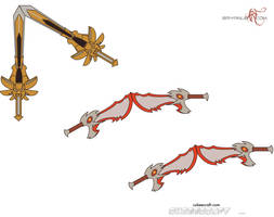 Cubee Kratos' weapons by inunokanojo