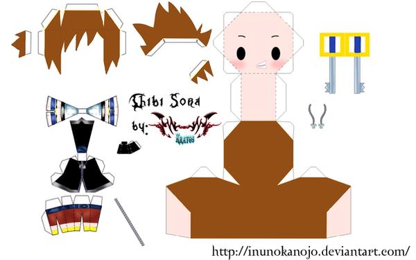 Chibi Sora Template by inunokanojo