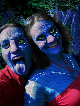 Me and Kevin as Na'vi