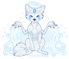 .: Smushy Bean ~ Snowfox #2 :. by Mythie-Paws