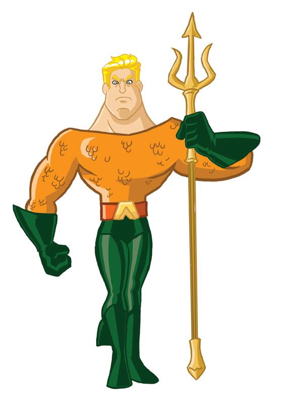 Super-Toon Aquaman by kevinbolk