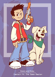 Captain N-Kevin and Duke by kevinbolk