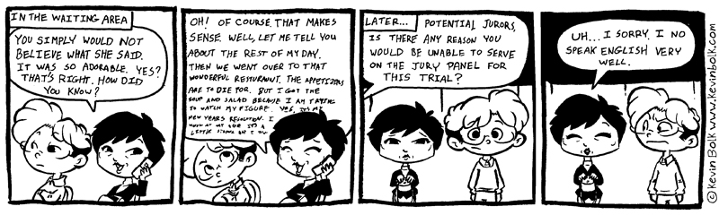 True Tales of Jury Duty by kevinbolk