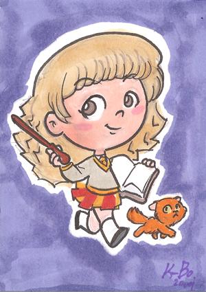 Hermione Granger Art Card by kevinbolk