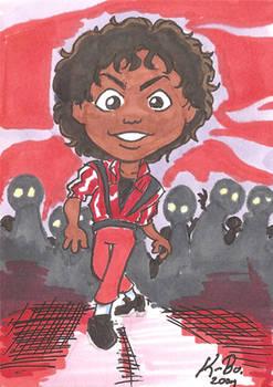 MJ Thriller Art Card by kevinbolk