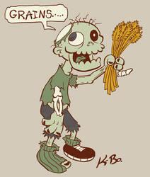 Vegetarian Zombie Design by kevinbolk