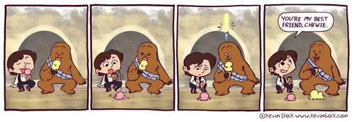 Star Wars Funnies: Chewbacca by kevinbolk