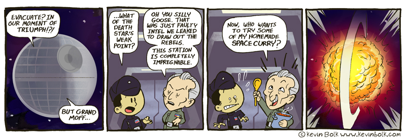 Star Wars Funnies: Tarkin by kevinbolk
