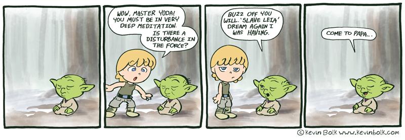 Star Wars Funnies: Yoda by kevinbolk