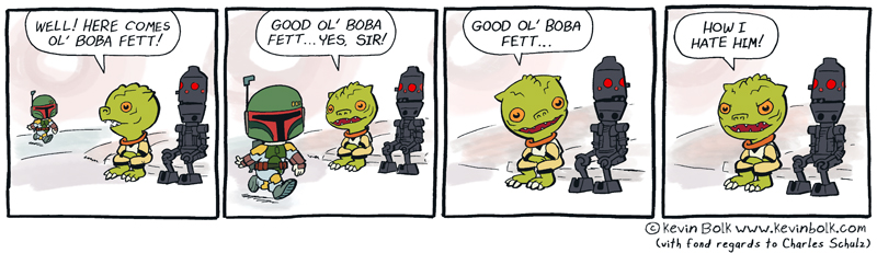 Star Wars Funnies: Boba Fett by kevinbolk