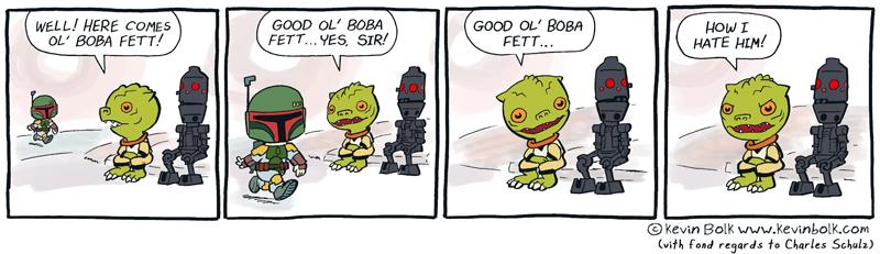 Star Wars Funnies: Boba Fett by kevinbolk
