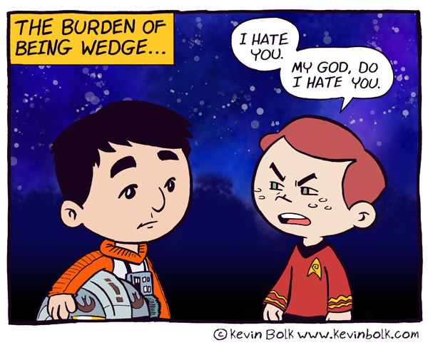 Star Wars Funnies: Wedge by kevinbolk