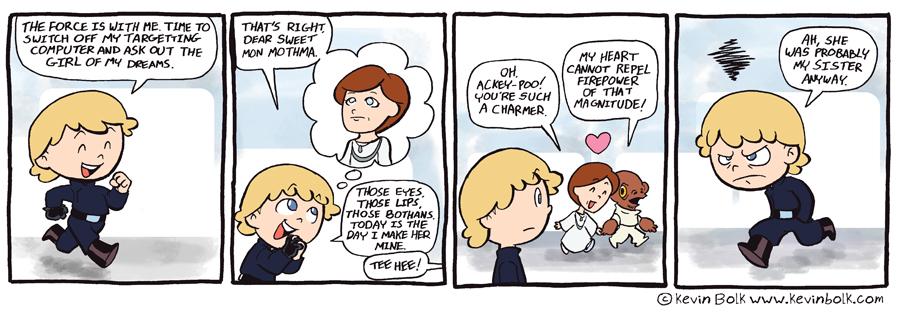 Star Wars Funnies: Luke by kevinbolk