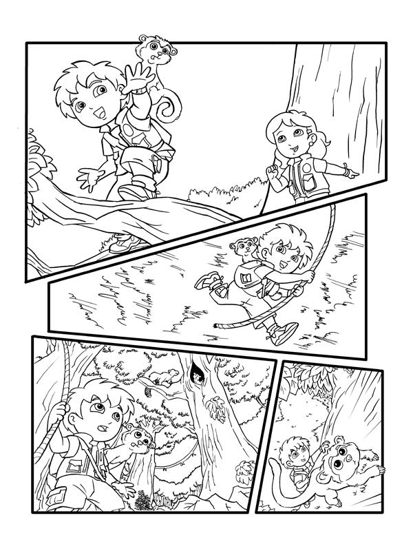 Nick Go Diego Go Inked Page 1 by kevinbolk on DeviantArt