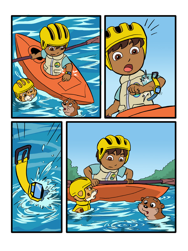 Go Diego Go Colored Page 1 by kevinbolk on DeviantArt