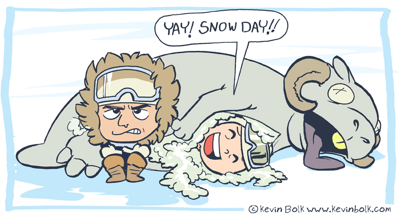Star Wars Funnies: Snow by kevinbolk