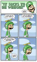 Sucks to be Luigi : Propeller by kevinbolk