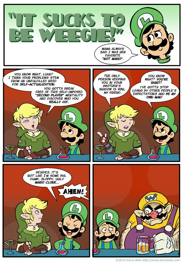 Sucks to be Luigi: Advice by kevinbolk