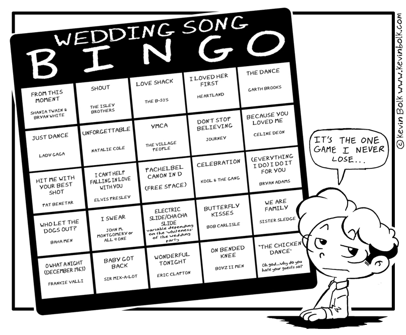 Wedding Song Bingo By Kevinbolk On Deviantart
