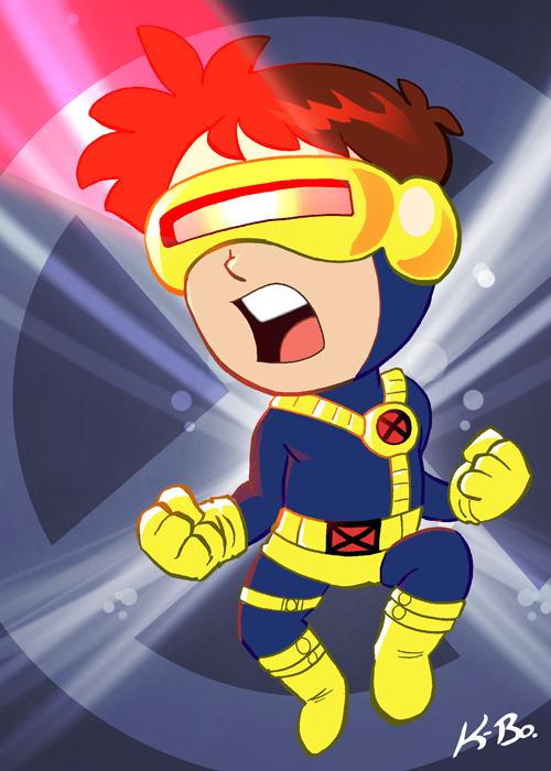 X-Men Cyclops Art Card by kevinbolk