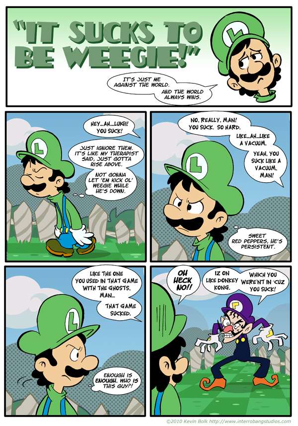Sucks to be Luigi: Nemesis p.1 by kevinbolk