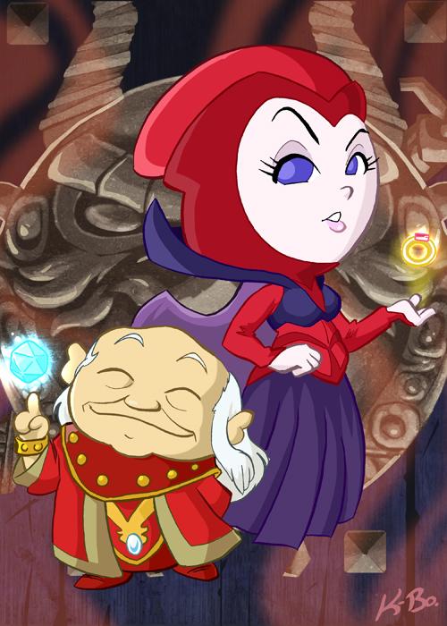 Dungeon Master and Kareena by kevinbolk