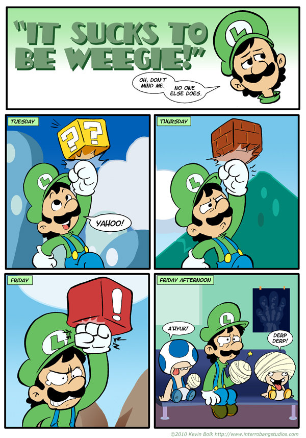 Sucks to be Luigi: Blocks by kevinbolk