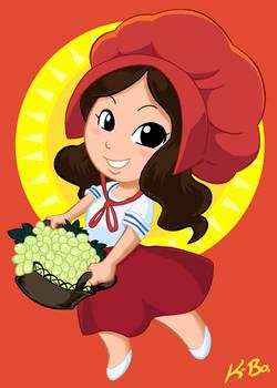 Sun Maid Raisin Girl