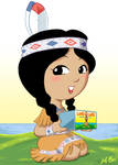 Land O Lakes Indian Maiden