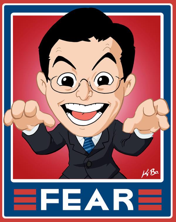 "Stephen Colbert ""Fear"" Sign by kevinbolk"