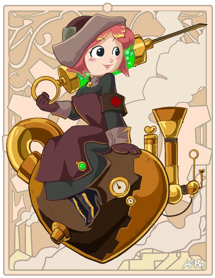 Steampunk Nurse Lindsay by kevinbolk