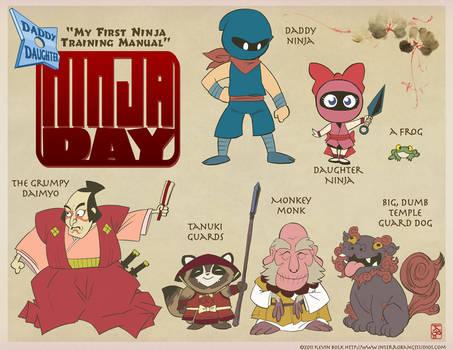 Daddy-Daughter Ninja Day Cast