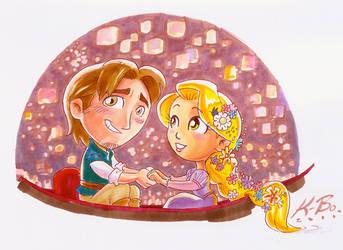 Disney Tangled Commission by kevinbolk
