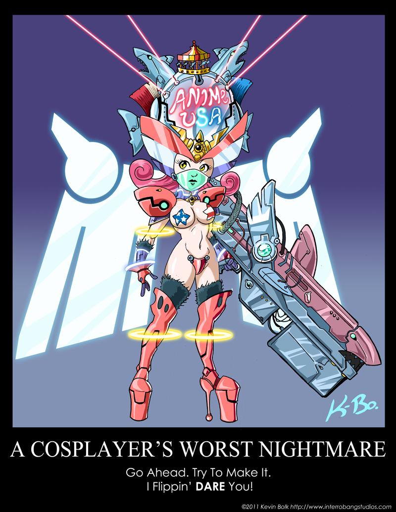 A Cosplayer's Worst Nightmare by kevinbolk