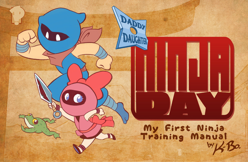 Daddy Daughter Ninja Day Cover by kevinbolk