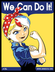 Anime USA 'We Can Do It' by kevinbolk
