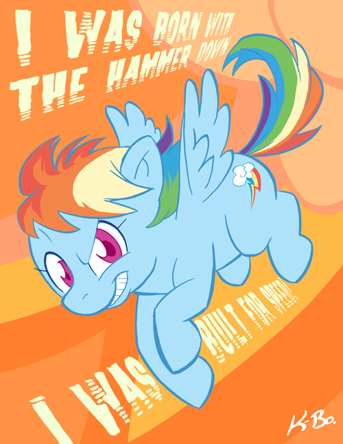 Rainbow Dash by K-Bo. by kevinbolk