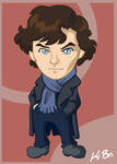 BBC Sherlock Holmes Art Card