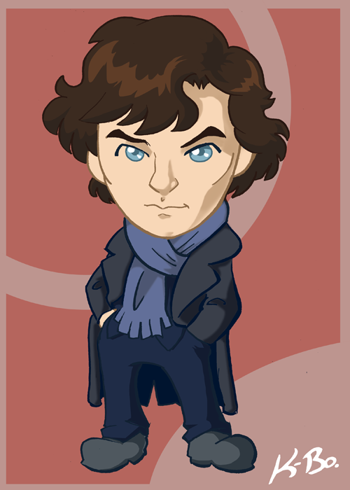 BBC Sherlock Holmes Art Card by kevinbolk