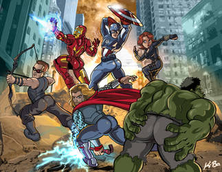Avengers Booty Ass-emble by kevinbolk
