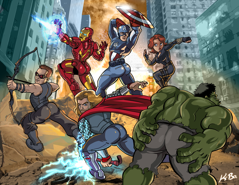 Avengers Booty Ass-emble