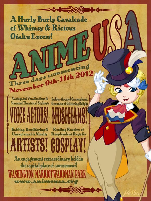 Anime USA 2012 Flyer by kevinbolk